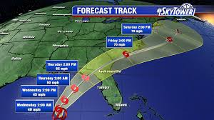 Weather Map Of Florida by Tropical Depression 9 Is On The Move In The Gulf To Become A