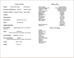 wedding church program template wedding programs catholic mass mass wedding program