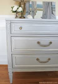 chalk paint dresser makeover part 2 using wax sand and sisal