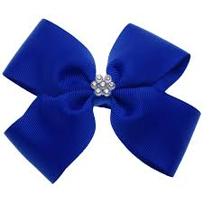 blue bows large royal blue bow with glitter diamantes cachet kids