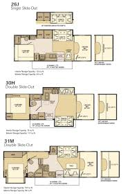 2 bedroom 5th wheel floor plans fleetwood fifth wheel floor plans rv of and prowler travel trailer