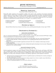 Personal Assistant Resume Templates 7 Personal Resume Samples Address Example
