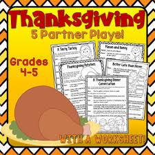 thanksgiving partner plays by deb hanson teachers pay teachers