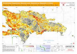 Population Density Map Estimated Population Density Over Dominican Republic U0026 Haiti Unitar