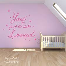 Nursery Quotes Wall Decals by Aliexpress Com Buy You U0027re So Loved Quote Wall Sticker Baby