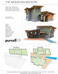 mountain architecture floor plans purcell timber frames the mountain modern prefab full home