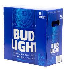 Bud Light 16oz Aluminum Bottle 8 Pack Beer Wine And Liquor