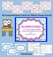 ballad of mulan vocab and comprehension houghton mifflin grade 3