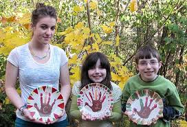 handprint keepsake thanksgiving plate craft woo jr activities