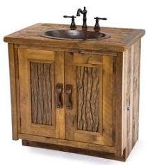 Wood Bathroom Vanity by Rustic Vanity With Sink Made From Reclaimed Barn Wood Bathrooms