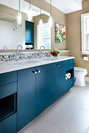 Blue Glass Tile Bathroom - glass bubble tile powder room traditional with bathroom blue glass