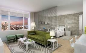 Haus Interior Modern Green  Gray Contemporary Studio Apartment - Contemporary studio apartment design