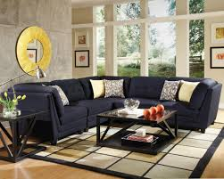 5 piece living room set keaton 5 pc sectional living room set in midnight blue