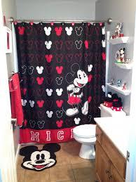 Mickey Mouse Queen Size Bedding Bathroom Wondrous Mickey Mouse Bathroom Disney Cartoon For