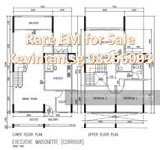 maisonette floor plan executive maisonette hdb for sale in jurong east 3 bedrooms 1603