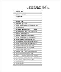 new employee checklist template new hire checklist template 12