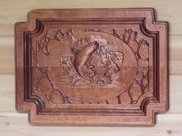 furniture accessories wooden wall decoration fishing
