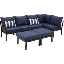 Patio Furniture Sofa by Mainstays Sandhill 7 Piece Outdoor Sofa Sectional Set Seats 5
