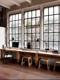 bureau style atelier atelier windows wood parisien desk bureau style industriel