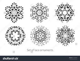 set lace ornaments your design vector stock vector 513658564