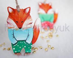 fox ornament etsy