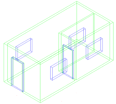 Create A Building In 3d Autocad 2016 Tutorial And Videos Autocad 3d House Plans