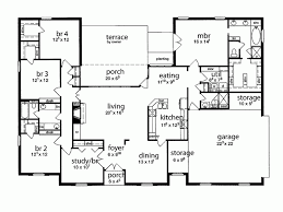House Plan Five Bedroom Tudor  Square Feet And  Bedrooms - 5 bedroom house floor plans