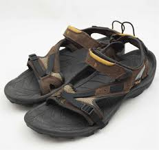 teva mens sport sandals shoes spoiler brown leather 6984 size 12