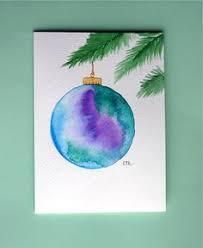 watercolor card no 101 ornament greeting card