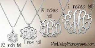 Monogram Necklaces Statement Monogram Necklace Mint Julep Monograms