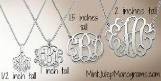 monogram necklaces statement monogram necklace mint julep monograms