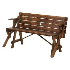 Garden Bench Hardwood Zingz U0026 Thingz Transforming Wood Garden Bench And Picnic Table