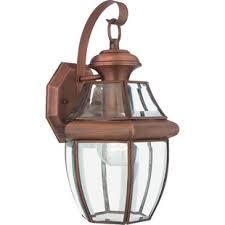 Copper Outdoor Lighting Fixtures Copper Outdoor Wall Lighting You Ll Wayfair
