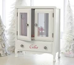 personalized ballerina jewelry box white mill valley armoire jewelry box pottery barn kids