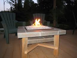 Diy Glass Fire Pit by Convert Outdoor Tables Into Fire Tables Propane Or Natural Gas