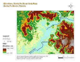 Santa Fe Map Santa Fe Maps Suwannee Hydrologic Observatory