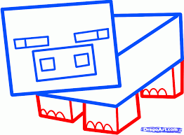 how to draw a minecraft pig step by step video game characters