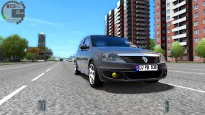 renault logan city car driving 1 4 1 renault logan 1080p youtube