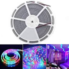 rgb led light strips eagwell rgb led strip lights 60 leds m 20 meters 65 6 ft