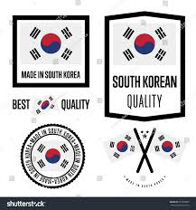 Flag Manufacturers South Korea Quality Isolated Label Set Stock Vector 637986889