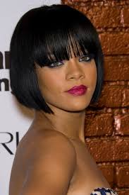 short bob hairstyles for black women with thin bangs for black