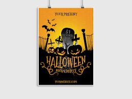halloween night party poster template 07071 creatily market
