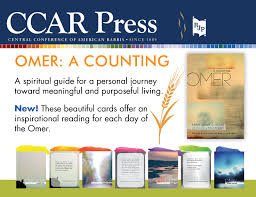 spiritual guide to counting the omer ccar press resources