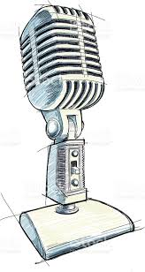 vintage microphone sketch stock vector art 155508675 istock
