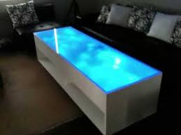 Coffee Tables With Led Lights Blue Led Coffee Table