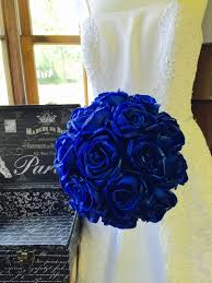 blue roses for sale real touch royal blue wedding bouquet royal blue bouquet