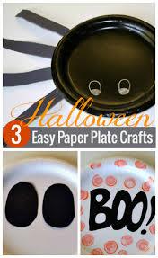 Halloween Crafts Paper Plates by Halloween Paper Plate Creatures Handmade Kids Art