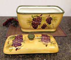 grape kitchen canisters kitchen decor grape desing tuscany wine bread canister box