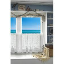 Valance And Curtains Coastal Seashell Curtains U0026 Valances