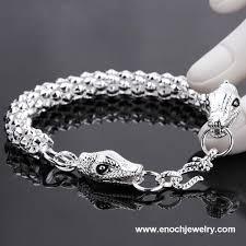 silver bracelet styles images Fashion different styles silver plating men design new snake jpg